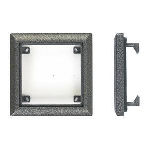 4FF 127 11.2 - rám 1 modul, KARAT, stříbrná