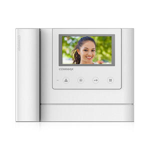"CDV-43MH bílý - verze 230Vac - videotelefon 4,3"", CVBS, se sluch., 2 vst. - 1"
