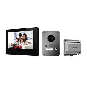 DS-KIS701/EU - Kit videotelefonu, 2-drát, černý monitor + dveřní stanice + switch - 1