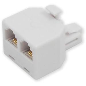 MP-110 6P4C - přímá rozdvojka do zásuvky telefon/telefon - 1