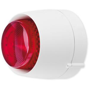 VTB 32 DB W bílá/červená - maják se sirénou venkovní