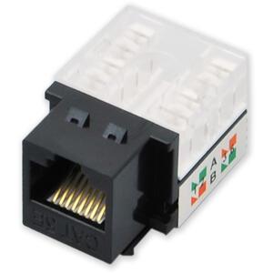 KJ-003 UPD/C5E - černá - horní osazování, C5E