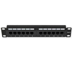 "PP-111 12P/C6 - 10"" patch panel 1U, 12 portů C6 - 1"