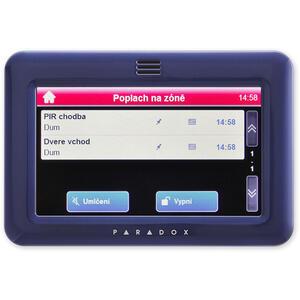 TM50 - modrá - barevná grafická dotyková klávesnice