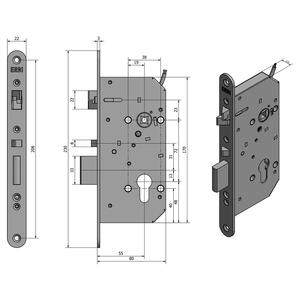 SAM EL P 7255 - elektromechanický samozamykací zámek - 1