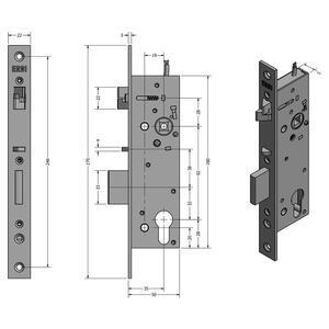 SAM EL P 9235 - elektromechanický samozamykací zámek