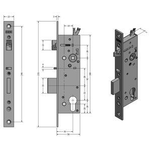 SAM REV MI 9235 - elektromechanický samozamykací zámek