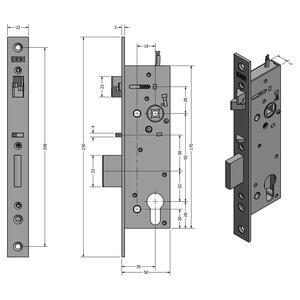 SAM EL 9235 - elektromechanický samozamykací zámek