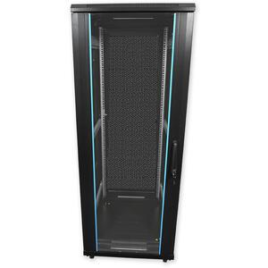 PSP.6842 - stojanový, 42U, 600 x 800, sklo/plech - 1