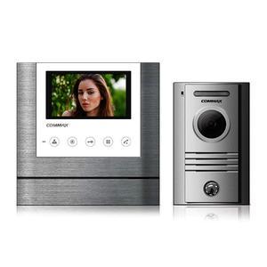 """CDV-43M bílý/DRC-40K, sada 4.3"""" handsfree videotelefonu a kovové dveřní stanice, Commax - 1"""