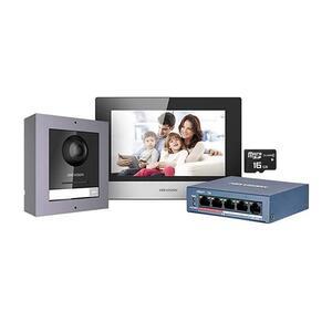 DS-KIS602 (EU) - sada IP videotelefonu, LAN, 2. gen., povrchová montáž - 1