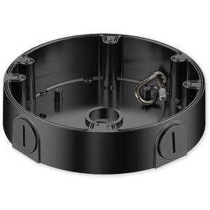 PFA138 BLACK - nástěnný zapojovací box, kulatý černý