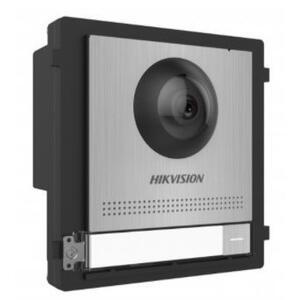 DS-KD8003-IME1/S - řídící modul s kamerou a 1 tlačítkem, IP LAN verze, nerez, 2. generace