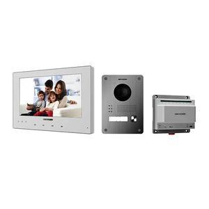 DS-KIS701-W /EU, kit videotelefonu, 2-drát, bílý monitor + dveřní stanice + switch - 1