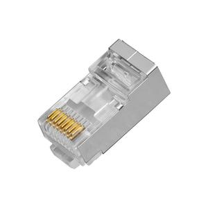 RX-RJ45DF, konektor RJ45 pro datový kabel FTP,osazen 8 kontakty,CAT.6