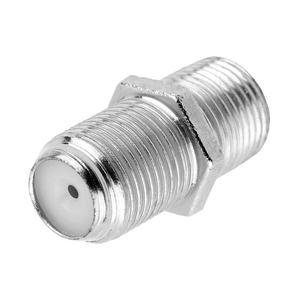 F konektor - spojka, šroubovací adaptér (samice-samice) pro koaxiální kabely, kovové provedení - 1