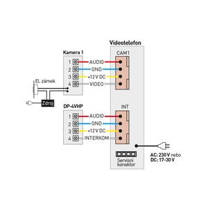 """CDV-70H modrý - verze 230Vac - videotelefon 7"""", CVBS, handsfree, 1 vst. - 2"""