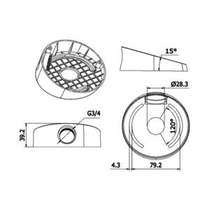 DS-1259ZJ - zkosená montážní patice pro dome kamery, bílá - 2