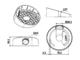 DS-1259ZJ - zkosená montážní patice pro dome kamery, bílá - 2/2