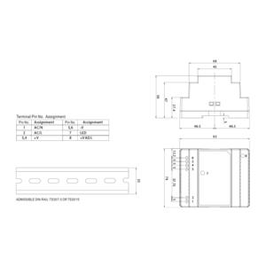 DR-30-15 - zdroj na DIN, 15Vdc, 2A, 30W - 2