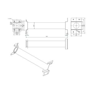 DS-1691ZJ-M - stropní konzole pro mini PTZ kamery, střední, bílá - 2