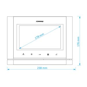 """CDV-70M bílý - verze 230Vac - videotelefon 7"""", CVBS, handsfree, 2 vst. - 2"""