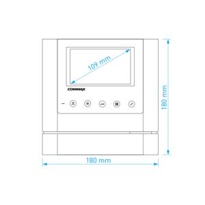 """CDV-43M bílý - verze 230Vac - videotelefon 4,3"""", CVBS, handsfree, 2 vst. - 2"""