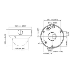 DS-2CD1743G0-IZ(2.8-12mm) - 4MPix, IP dome kamera; 2,8-12mm; WDR; EXIR 30m;H265+ - 2