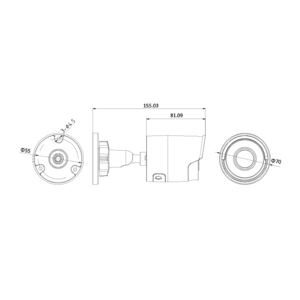 DS-2CD2083G0-I(2.8mm) - 8MPix, IP bullet kamera; 2,8mm; WDR; EXIR 30m;H265+ - 2