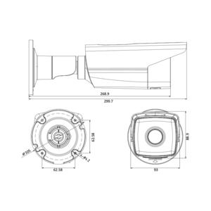 DS-2CD2T23G0-I8 - (4mm) - 2MPix; IP bullet kamera; 4mm; WDR; EXIR 80m; H265+ - 2