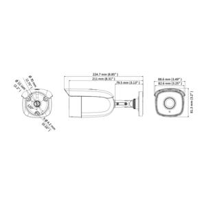 DS-2CE18U8T-IT3 - (2.8mm) - 8Mpix, HDTVI bullet kamera; 2,8mm; WDR; EXIR 60m - 2