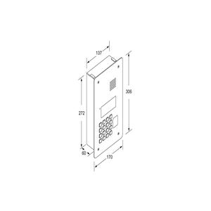 TD2000RA - dveřní stanice SOLVO, audio, pro RFID - 2