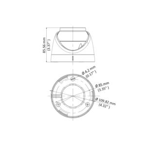DS-2CE72DFT-F(3.6mm) - 2 MPix; dome ball kam. 4v1; 3,6mm; WDR; světlo 20m; - 2