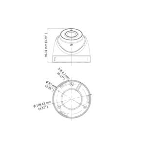 DS-2CE78U8T-IT3 - (2.8mm) - 4K; HD-TVI dome ball kam.; 2,8mm; WDR; EXIR 60m; - 2