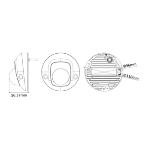DS-2CD2525FWD-I - (4mm) - 2MPix, IP mini dome; 4mm; WDR; EXIR 10m; H265+ - 2