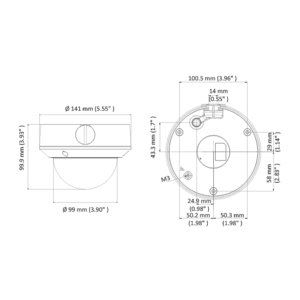 DS-2CE5AD0T-VPIT3F(2.8-12mm) - 2 MPix; dome kamera 4v1; 2,8-12mm; EXIR 40m; - 2