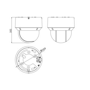 DS-2DE4A404IW-DE - (2.8-12mm) - 4 MPix; venk. PTZ; 4x zoom; DWDR; IR 50m; H265+; - 2
