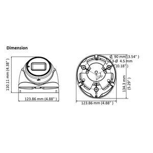 DS-2CE79U1T-IT3ZF(2.8-12mm) - 4K; dome ball kam. 4v1; M2,8-12mm; DWDR; EXIR 60m; - 2