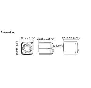 DS-2CC12D8T-AMM - 2MPix, Box kamera, HD-TVI,WDR, Ultra low light - 2