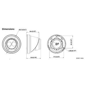 DS-2CD2323G0-I - (BLACK)(2.8mm) - 2MPix, IP dome; 2,8mm; WDR; EXIR 30m; H265+; černá - 2