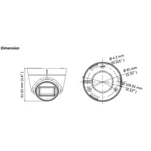 DS-2CE78U7T-IT3F - (3.6mm) - 4K; dome ball kam. 4v1; 3,6mm; WDR; EXIR 60m; - 2