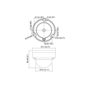 DS-2CE56D8T-VPITF - (3.6mm) - 2Mpix, 4v1 dome kamera; 3,6mm; WDR; EXIR 60m - 2