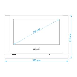 """CDV-1024MA bílý - verze 230Vac - videotelefon 10"""", Full HD, dotyk., paměť - 2"""
