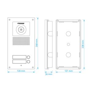 DRC-2UCHD - dveřní stan. s kamerou, 2 tlač., HD Ready - 2