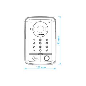 DRC-40DKHD - dveř. stan., 1 tl., HD r, kód, RFID, povrch. - 2