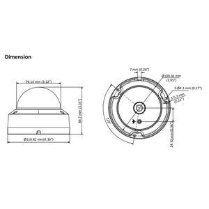 DS-2CE57H8T-VPITF - (3.6mm) - 5MPix; dome kamera 4v1; 3,6mm; WDR; EXIR 30m; - 2