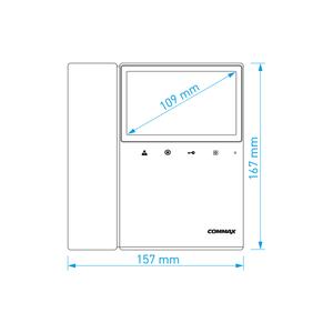 """CDV-43KD2 bílý - verze 17-30Vdc - videotelefon 4,3"""", CVBS, se sluch., 2 vst. - 2"""