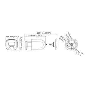 DS-2CE12DFT-F28(2.8mm) - 2Mpx, 4v1 bullet kamera; 2,8mm; WDR; bílé světlo 40m - 2