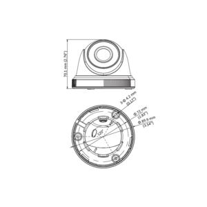 DS-2CE56D0T-IRPF - (3.6mm)(C) - 2Mpx, 4v1 dome ball kamera; 3,6mm; IR 20m - 2