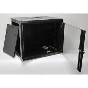 WM.6409.901 - nástěnný, složený, 9U, 600 x 450, sklo - 2